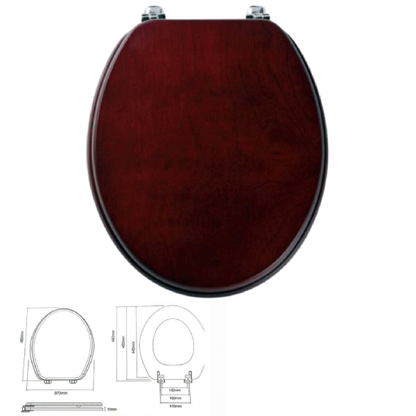 Tavistock Millenium WC Seat In Mahogany - Model Number 0103M
